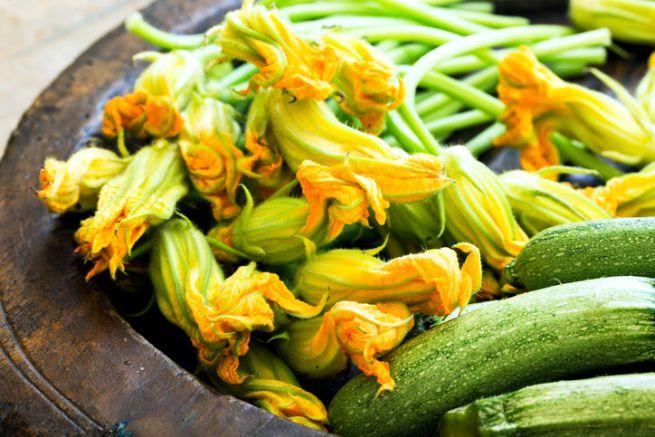 condimento zucchine e fiori di zucca testaroli